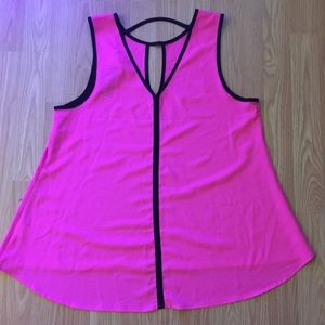 Pretty pink sleeveless blouse